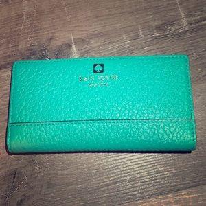 Teal Kate Spade wallet
